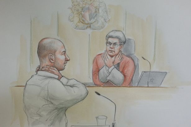 Edward Tenniswood demonstrates to the judge how he claims India Chipchase1.jpg