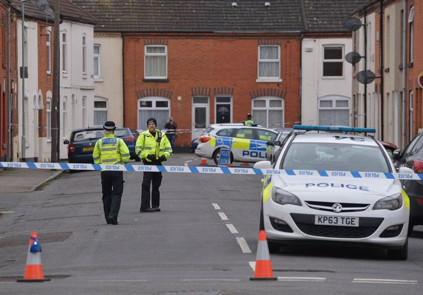 police at crime scene of India Chipchase rape and murder1.jpg