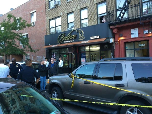 Cops investigate shooting death at the Bronx Believe Beauty Spa1