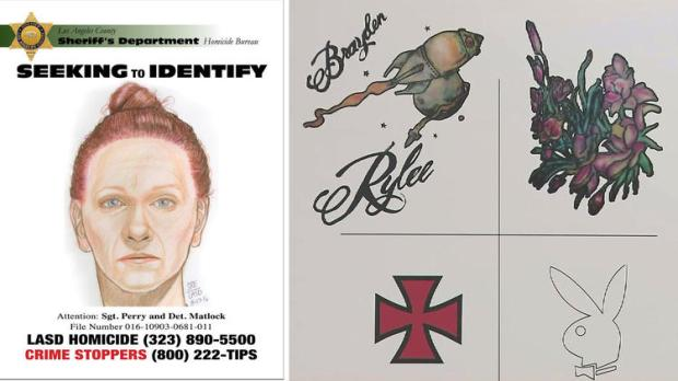 LA Sheriff's Department released drawings of the face and tattoos of a woman1.jpg