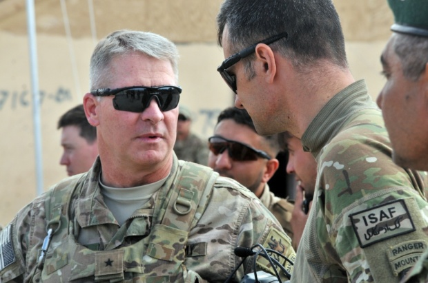 Major General David B. Haight (left) in Lugar Province Afghanistan, 2014.jpg