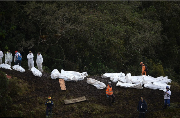 rescue-teams-stand-by-recovered-remains-of-passengers-from-the-lamia-airlines-charter-that-crashed-in-the-mountains-of-cerro-gordo