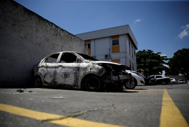 Burnt out rental car driven by missing Greek Ambassador, Kyriakos Amiridis when he disappeared4.jpg