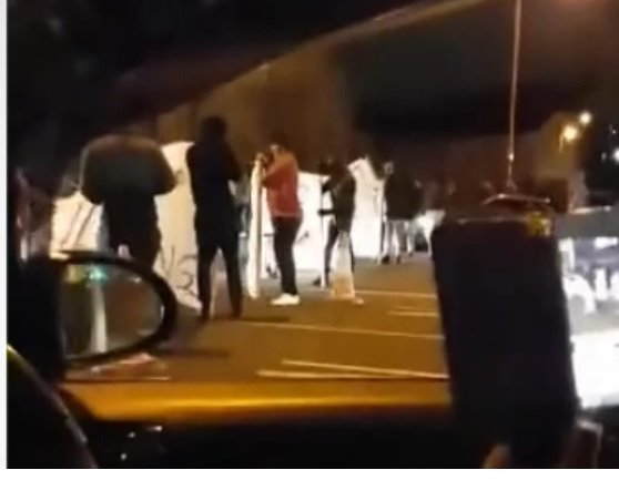 AlexanderC Evans VIDEO  Protests against police shooting on M62 close road in Yorkshire.jpg