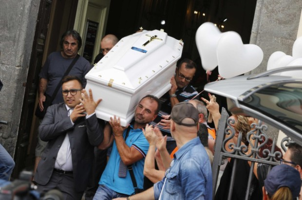funeral for Tiziana Cantone who killed herself after a video of her performing a sex acts was posted online and adult websites.jpg