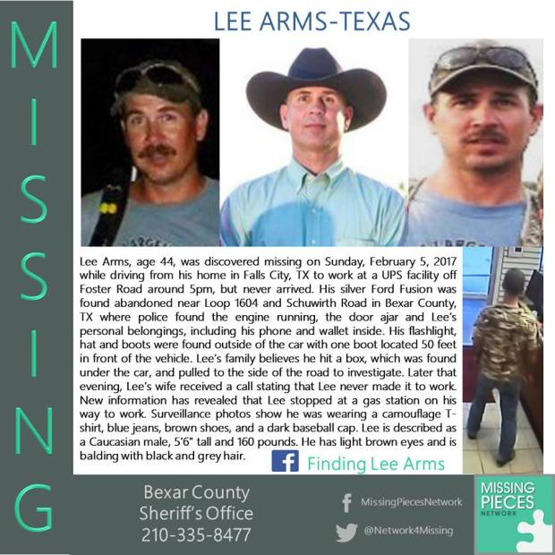 Missing person message posted on Facebook for Lee Arms4.jpg