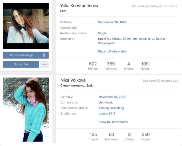 Yulia Konstantinova left a note saying 'End' on her social page before committing suicide2.jpg