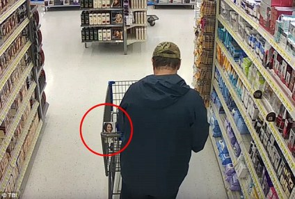 Cummins buying dark hair dye from a Walmart in Columbia, Tennessee, the day before he vanished with the student