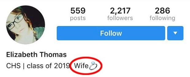 Elizabeth Thomas changed her status on social media.jpg