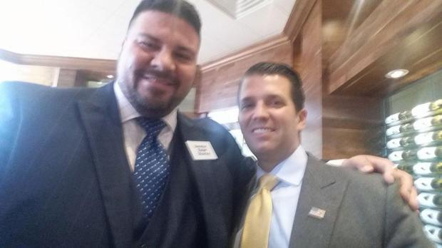 Oklahoma Republican senator Ralph Shortey [left], with Donald Trump Jr.1
