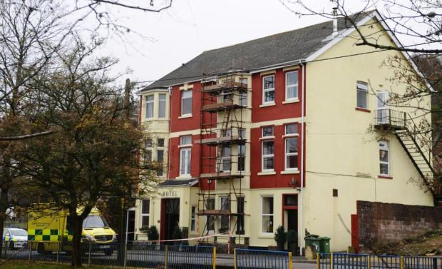 Police investigators at the  Sirhowy Arms Hotel where Williams was staying after his prison release3.jpg