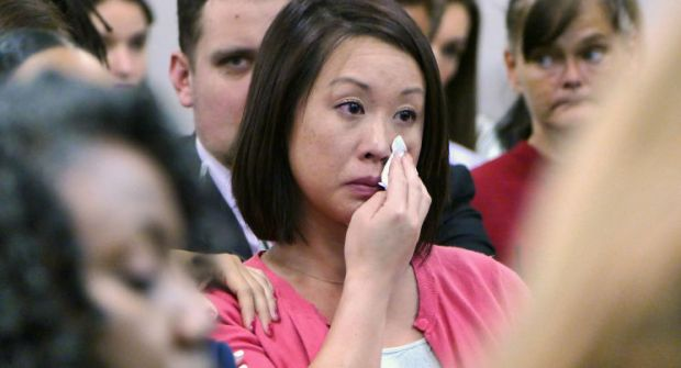 Queena's sister Anna Donato weeps in court .jpg