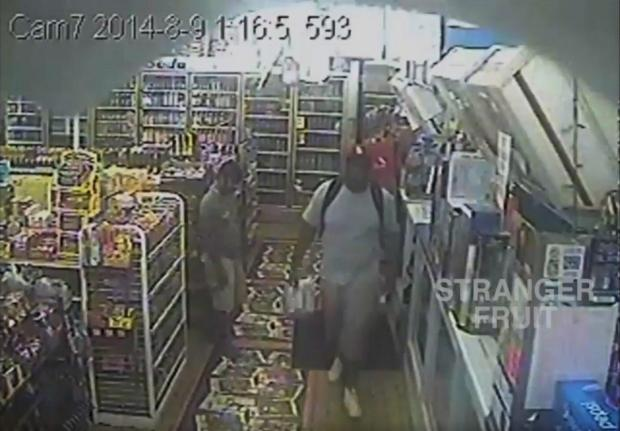 The ed surveillance video shows Michael Brown making an early-morning visit to a Ferguson, Mo., convenience store on the day he was shot. (