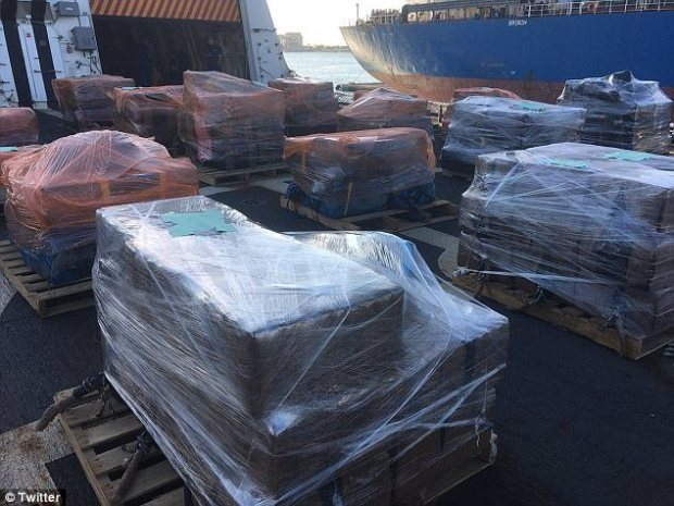 The haul: The U.S. Coast Guard cutter James delivered 16 tons of seized cocaine worth $420 million wholesale to Port Everglades in Fort Lauderdale