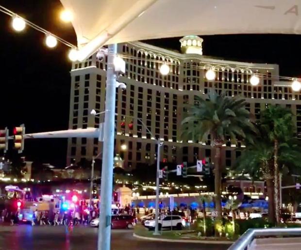 The scene at the Vegas Bellagio on Satueday