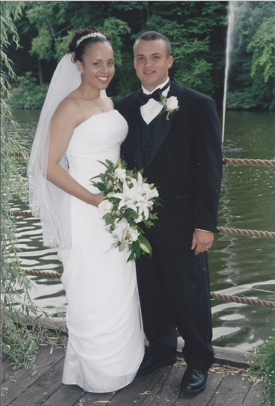Cristina and Benno Kaiser on their wedding day 12 years ago.png
