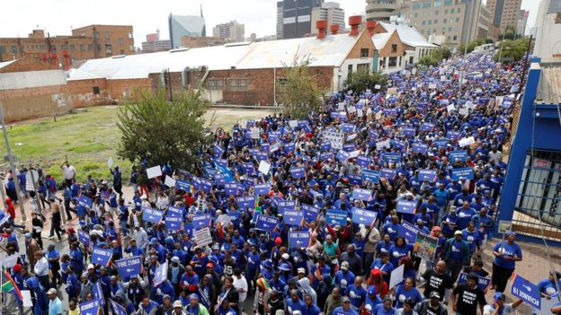 There were reports that tens of thousands of people marched through Johannesburg.jpg