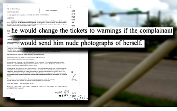 A Baytown officer accused of offering traffic ticket dismissals for nude photos contacted the 18-year-old through social media an hour after he pulled her over, according to the victim.2.png