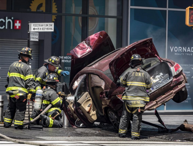 Car crash in Times Square6