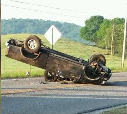 Heath Baker's flipped truck2