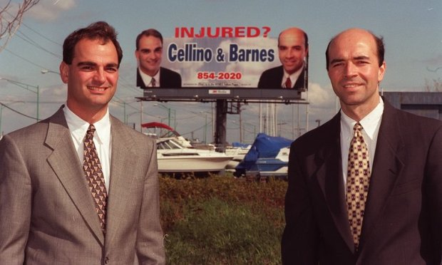 Personal injury lawyers Ross Cellino Jr [left] and Stephen Barnes [right]2