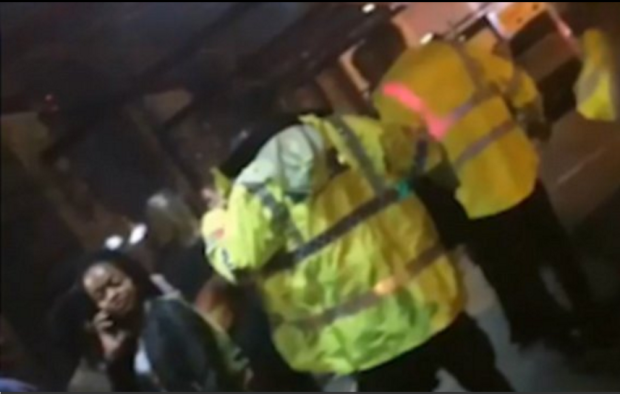 Police seen amongst panicking fans at Ariana Grande concert