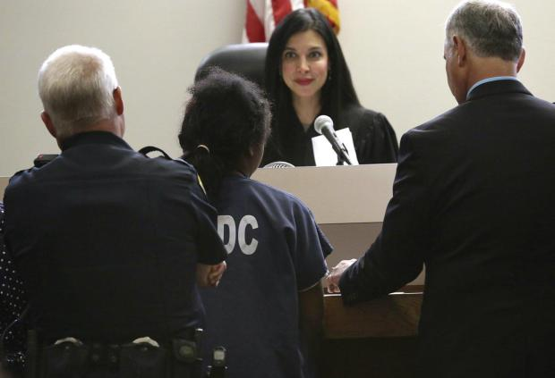 The 14-year-old girl attacked by Dallas police officer, appears in juvenile court in San Antonio on Monday..jpg