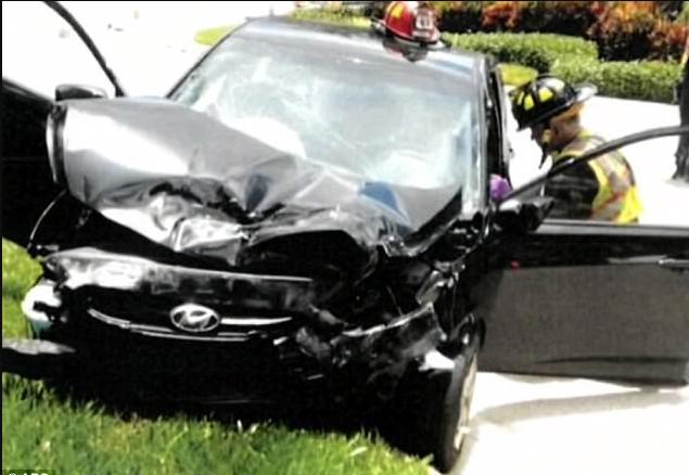 Damage in Venus Williams involved accident1