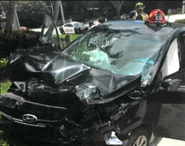 Damage in Venus Williams involved accident2.png