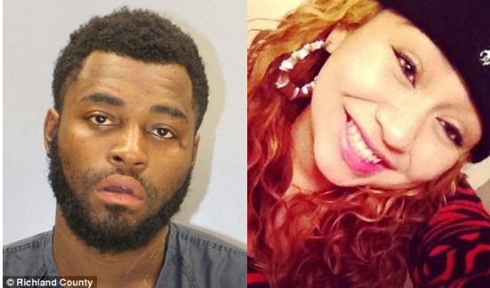 Albertus Lewis [left], is accused of murdering his girlfriend Mayra Sanchez [right] 1