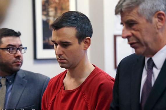 Cameron Espitia with his lawyers Joseph Alvarado, left, and Kevin McCabe 2
