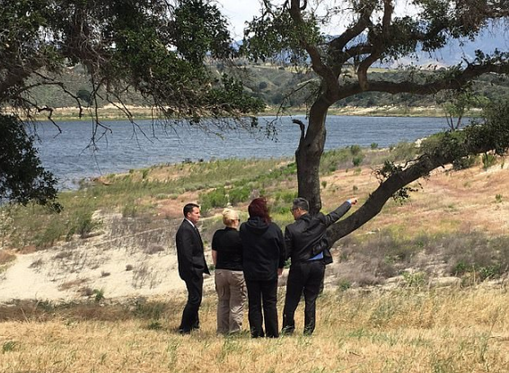 In this April 25, 2017, file photo released by Los Angeles Sheriff Department, homicide detectives continue their investigation at Lake Cachuma Recreation looking for Aramazd Andressian