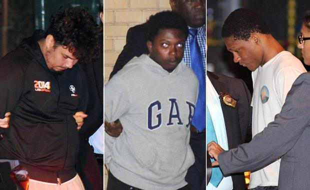Julisses Ginel, Brandon Walker and Justin Williams were charged July 14 in the attack