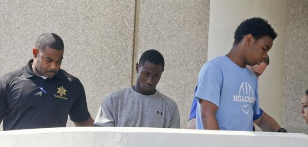 Koran Rashad Lewis and Kendrick Ky'Andre Marshall at their arrest, July 191.png