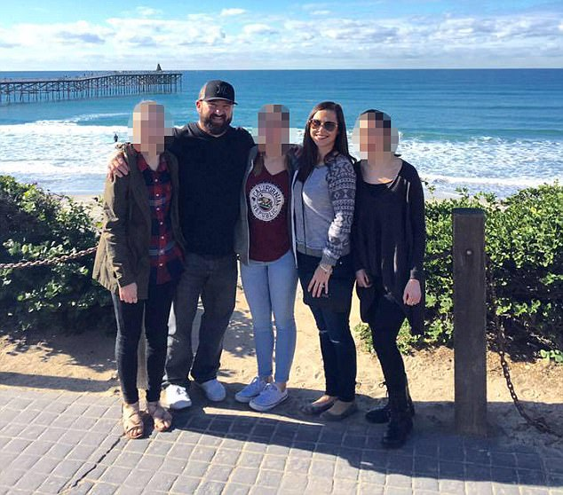 Kristy Kezares with husband Ken and their three daughters 2