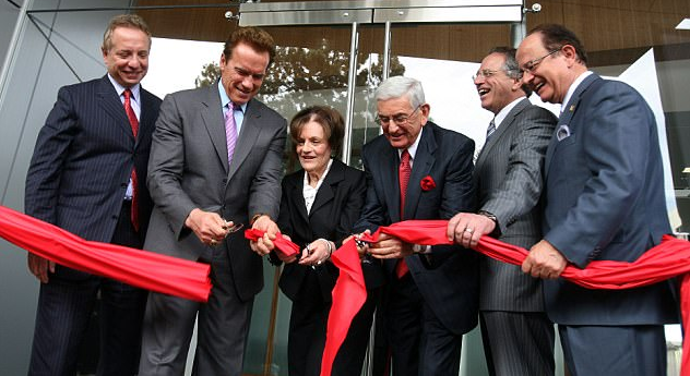 nextPuliafito [right], is pictured standing to Calif. governor, Arnold Schwarzenegger at the opening a USC clinic in 2010