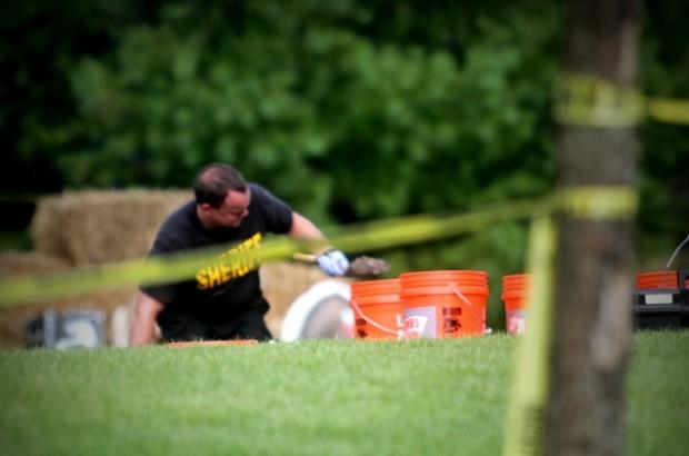 Police excavate soil at Brooke Skylar Richardson;s home 2