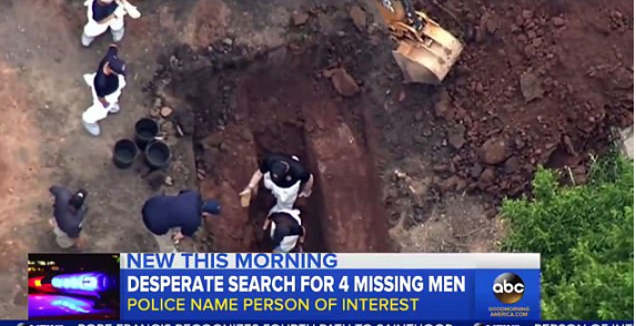 Police used diggers and metal detectors to search a 90-acre farm in Solebury, Pennsylvania, on Wednesday in the hunt for four young men who have been missing since last week 2.png