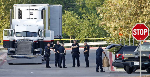 San Antonio cops found a trailer containing at least 38 people 3