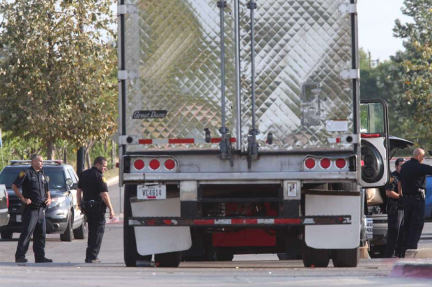 San Antonio cops found a trailer containing at least 38 people 4