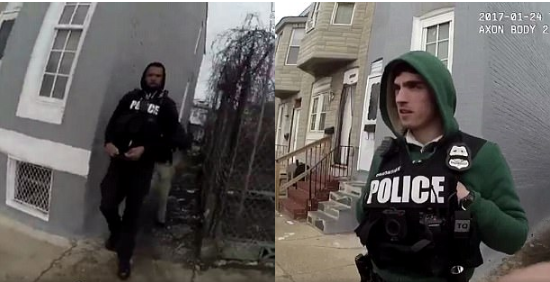 The two other officers who were with the cop who appeared to plant the drugs were seen in the body camera footage 1