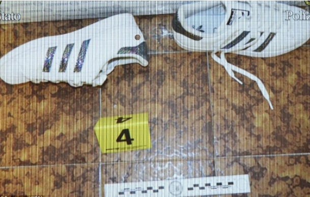 A pair of trainers is among the evidence being examined by police following the shock discovery that the model had been kidnapped.png