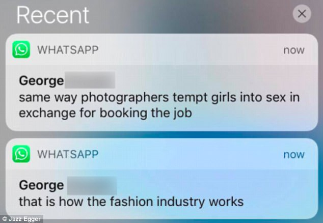 Jazz Egger and 'Agent' George exchanged Whatsapp messages where he pushed escorting 1.jpg
