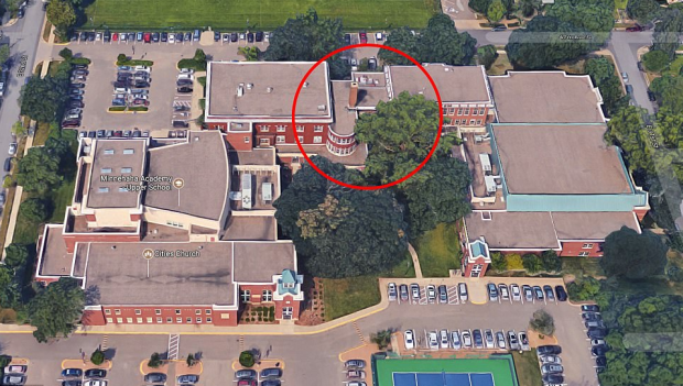 Minihaha High school Gas Explosion - View of the structure that was destroyed before the gas explosion .png