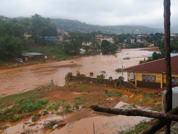 Mudslides in Freetown, Sierra Leone 1