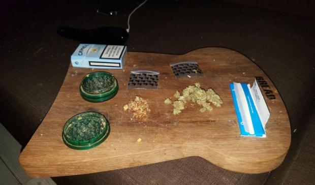 Photo from Cohen_s open Facebook page appear to show drug paraphernalia