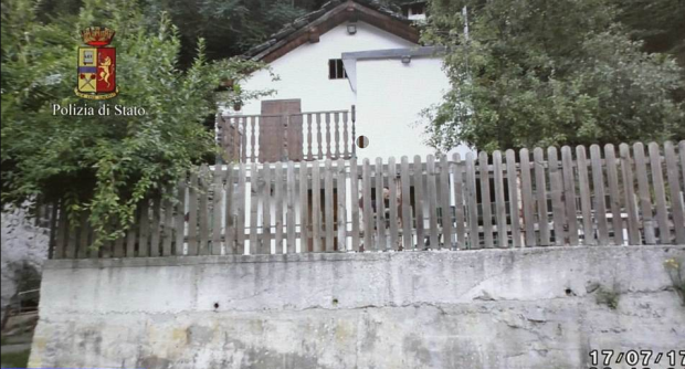 Police said the model was driven 120 miles to a farmhouse in Turin, pictured, and officers are now looking for accomplices after the model told them she was 'attacked by two people'.png