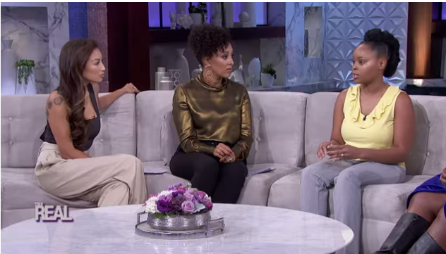 Jerhonda Pace on daytime talk show The Real 2