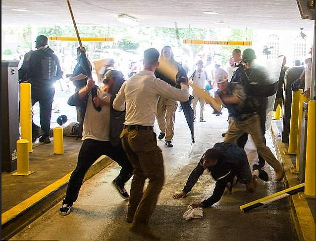 DeAndre Harris, being attacked by horde of white supremacists in Charlottesvile, VA 1